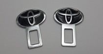 Заглушки ремней безопасности Toyota чёрные
