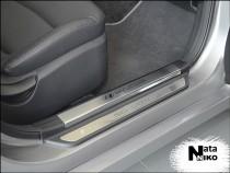 Накладки на внутренние пороги Hyundai SONATA VI (YF) 2009-2014  NataNiko