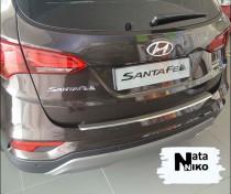 NataNiko Накладка с загибом на бампер Hyundai  Santa Fe FL 2016-2018