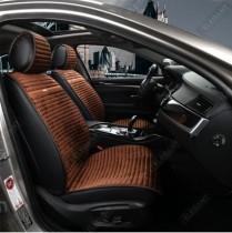 Elegant Универсальные накидки на сидения NAPOLI темно-коричневые передние