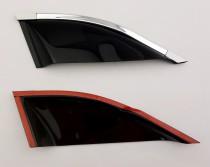 Дефлекторы окон VW Touareg 2010- третья часть с хромированным молдингом Cobra Tuning