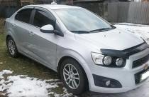 Дефлектор капота Chevrolet Aveo 2012- VT52