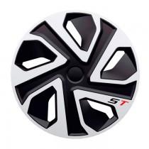 4 Racing Колпаки ST Silver&Black R15