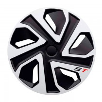 4 Racing Колпаки ST Silver&Black R14