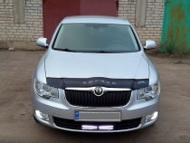 Дефлектор капота Skoda Superb 2008-2013  Vip Tuning