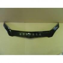 Дефлектор капота Toyota Corolla E12 2002-2007 HB Vip Tuning