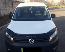 Дефлектор капота VW Caddy 2010- Vip Tuning