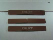 Накладки на пороги CHEVROLET CRUZE 4D/5D 2008-2011- NataNiko