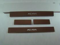 Накладки на пороги FORD KUGA II2013- NataNiko