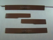 Накладки на пороги RENAULT LOGAN III/III MCV 2013- NataNiko
