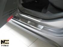 Накладки на пороги стальные VW GOLF VI 5D 2008-