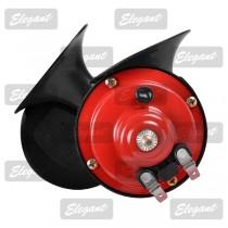 Сигнал звуковой «улитка» 2-тоновый Compact 12V красно-чёрный Elegant