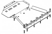 Кольчуга Защита двигателя Infiniti QX 56 2004-2010
