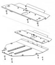 Кольчуга Защита двигателя Mazda 6 2002-2008