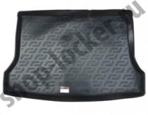 Коврик в багажник Nissan Tiida hatchback 2015- полимерный  L.Locker