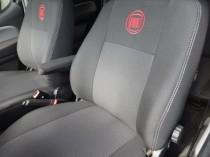 Оригинальные чехлы Fiat Linea 2007- Задняя спинка цельная  EMC