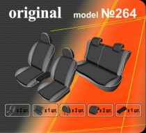 Оригинальные чехлы Hyundai Accent 2010- задняя спинка деленная EMC