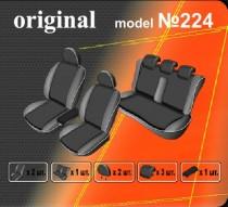 Оригинальные чехлы Renault Fluence 2009-2012 задняя спинка цельная EMC