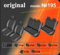 Оригинальные чехлы Renault Logan MCV 2006-2013 7 мест цельный салон EMC