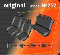 Оригинальные чехлы VW Polo Sedan 2010- цельная спинка EMC