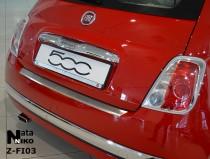 NataNiko Накладка с загибом на бампер Fiat 500