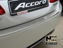 NataNiko Накладка с загибом на бампер Honda Accord IX 2013-