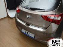 NataNiko Накладка с загибом на бампер Hyundai i30 2012-
