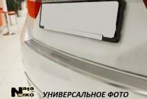 NataNiko Накладка с загибом на бампер Mitsbishi Lancer X sedan