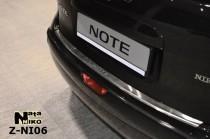 NataNiko Накладка с загибом на бампер Nissan Note 2006-2013
