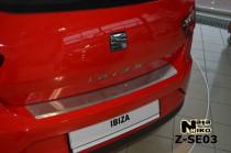 NataNiko Накладка с загибом на бампер Seat Ibiza IV 3D FL 2012-