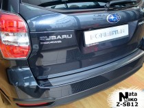 NataNiko Накладка с загибом на бампер Subaru Forester IV 2012-
