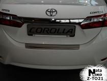 NataNiko Накладка с загибом на бампер Toyota Corolla 2013-