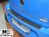 NataNiko Накладка с загибом на бампер VW Polo V 5D 2009-2014