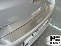 NataNiko Накладка на задний бампер Chevrolet Cruze 5D 2011-2015