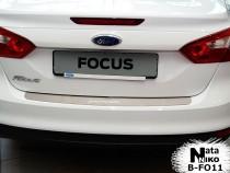 NataNiko Накладка на задний бампер Ford Focus III sedan 2011-2014