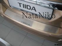 NataNiko Накладка на задний бампер Nissan Tiida 5D 2004-2014