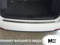 NataNiko Накладка на задний бампер Seat Ibiza IV 3D 2012-