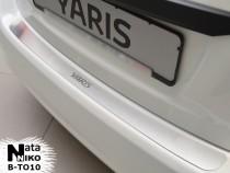 NataNiko Накладка на задний бампер Toyota Yaris 5D 2011-2014