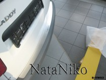 NataNiko Накладка на задний бампер VW Caddy 2004-2010