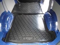 Коврик в багажник Volkswagen Transporter T5 2002- задняя часть полимерный  L.Locker