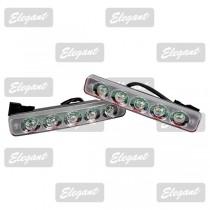 Дневные ходовые огни Maxi 1W*5LED, 190*30*45мм с автопереключателем света