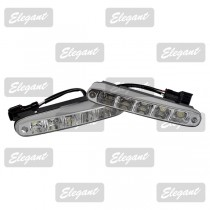 Дневные ходовые огни Maxi 1W*5LED, 160*25*53мм  с автопереключателем света