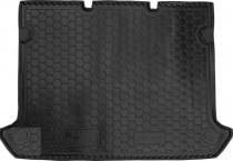 Полиуретановый коврик багажника Fiat Doblo 2001- короткая база (без сетки) Avto Gumm