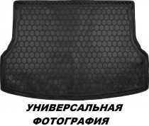 Полиуретановый коврик багажника Kia Soul 2013- нижняя полка (без органайзера) Avto Gumm