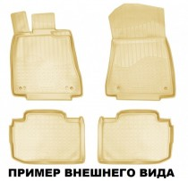 Коврики резиновые Skoda SuperB 2008-2015 бежевые Nor-Plast