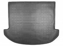 Коврик в багажник Hyundai Santa Fe 2012- 7 мест резино-пластиковый Nor-Plast