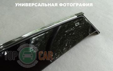 Cobra Tuning Дефлекторы окон Geely Emgrand EC7 hatchback с хромированным молдингом