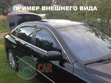 Cobra Tuning Дефлекторы окон VW Passat B6/B7 sedan  с хромированным молдингом