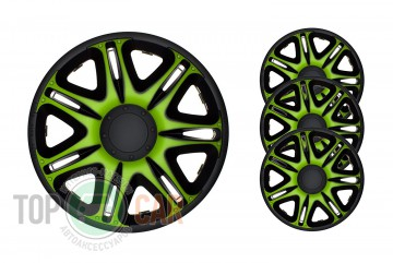 Колпаки R15 Nascar Green&Black