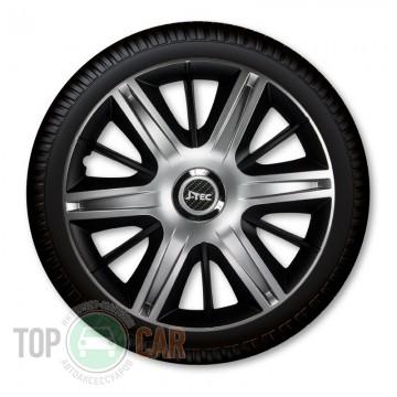 J-TEC (Jacky Auto Sport) Колпаки Maximus Silver&Black R15